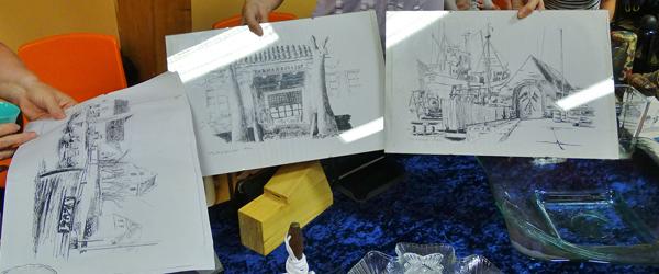 Spændende tegninger fra Sæby<br> på loppemarked i Syvsten