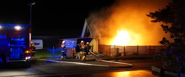 Villa på Smedevej i Præstbro<br> stod i flammer
