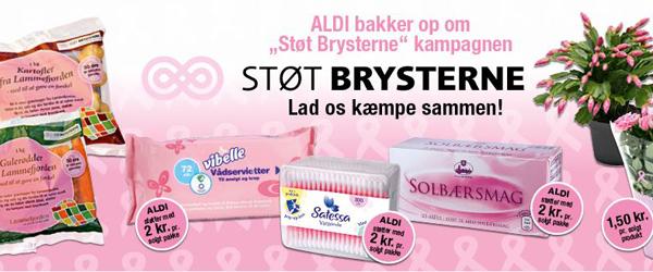Støt Brysterne: Aldi<br> støtter per solgt produkt