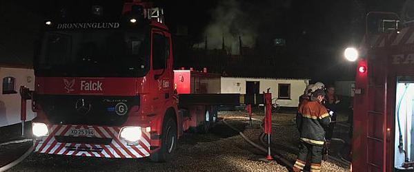 Brand i ejendom mellem<br> Asaa og Dronninglund