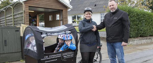 Aros Familie Forsikring kom<br> med en dejlig el-ladcykel