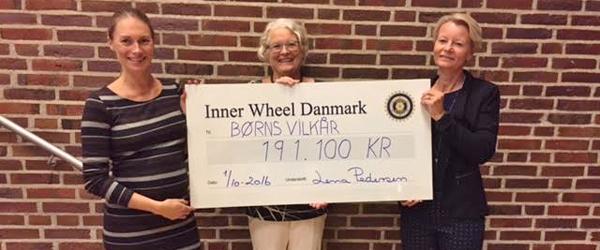 Inner Wheel Danmark donerer<br> 191.100 kr. til Børns Vilkår
