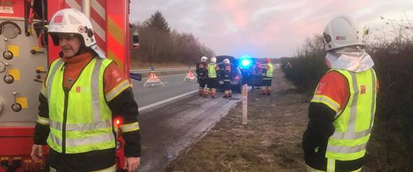 Mindre brand i bil på E45 ved Sæby