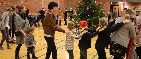 Julemanden skabte stor<br> glæde i Voerså