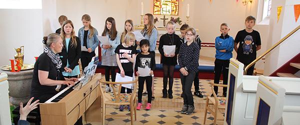 Minikonfirmandafslutning i Lyngså kirke