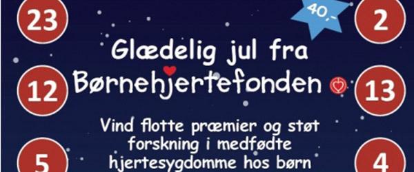 Hjerteforeningens Børnejulekalender er på gaden