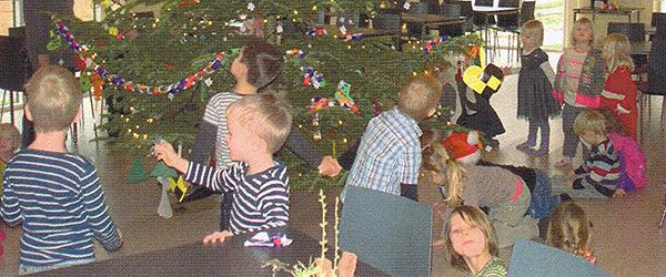 Voerså Børnehus laver pynt<br> til juletræet i Lyngså