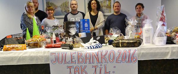 Flot opbakning til banko<br> på Sæby Støttecenter