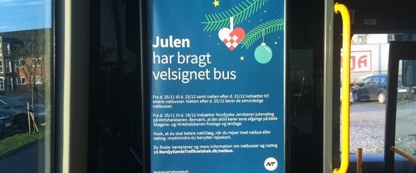 Kom sikkert hjem med tog<br> og bus efter julefrokosten