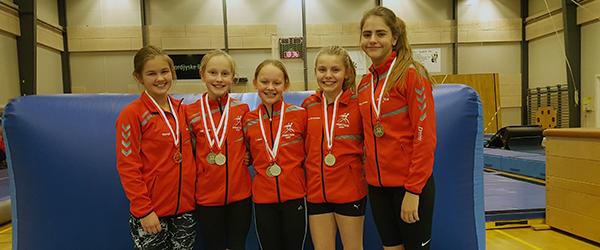 Medaljer til Springteam Sæby ved Springcup Silkeborg