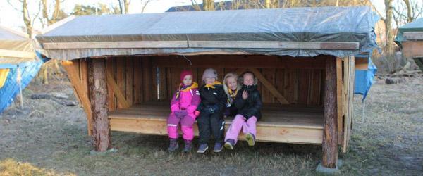 Tilladelse til opførelse af 2 shelters i Lyngså
