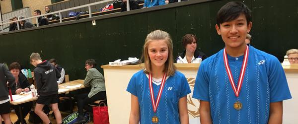 Medaljer til badminton-<br> talent fra Sæby