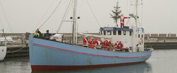 Julebåden har Julemanden<br> med til Sæby næste søndag