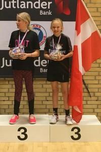 Dicte Dalberg Jensen U 13 vinder en flot 3. plads dame singel
