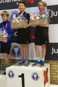 Nikolaj Fauerholt Jensen og Jacob Lindeg ... en flot 1. plads i Herre double .