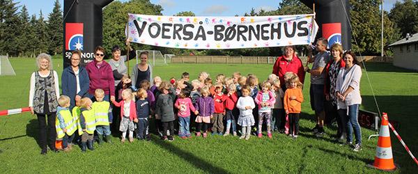 Landsbyløbsfest i Voerså Børnehus
