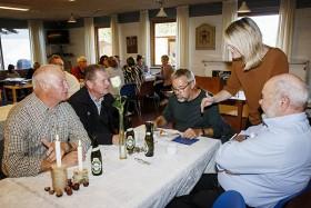 Blandt gæsterne var der også venner af huset       Foto: Ejvind Pedersen