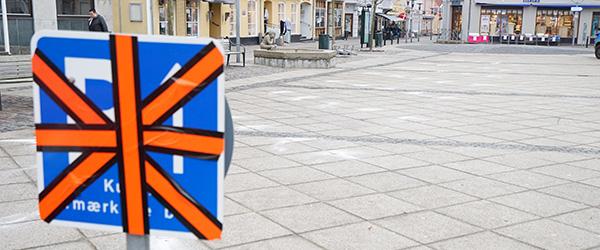 7 nye P-pladser etableres på Torvet i Sæby