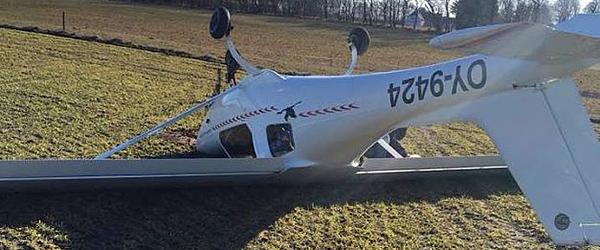 Pilot fra Sæby måtte nødlande på en mark