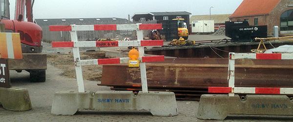 Sæby Havn midlertidig spærret for trafik