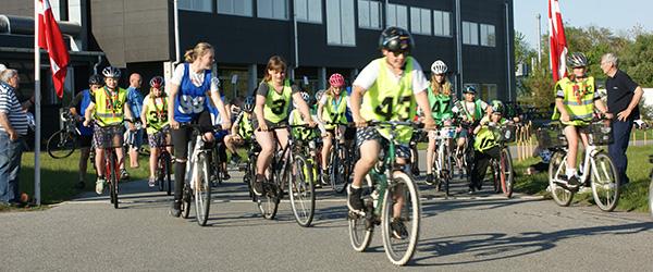 Vellykket cykelsponsorrally på Dekras køretekniske anlæg