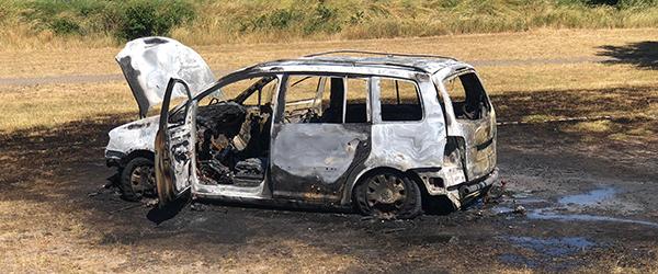 Udbrændt bil