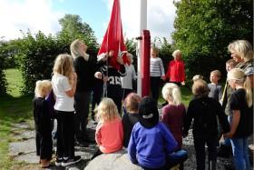 Sæby Friskole flag
