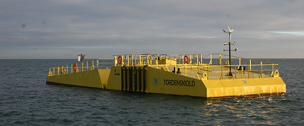 Offshore test af bølgeenergianlæg fra Crestwing