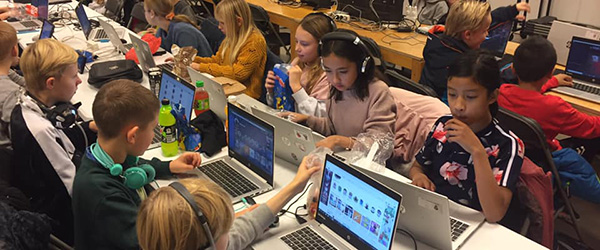 LAN-party på Sæby Skoleafdeling fredag aften