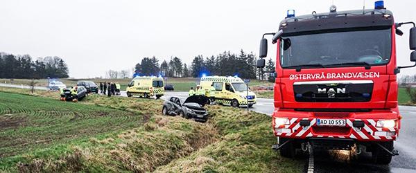 Trafikuheld på Hørbylundvej ved Østervrå
