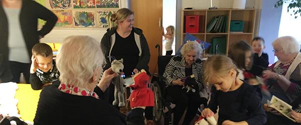 Ældrecenteret flyttede ind i børnehaven