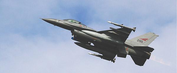 Mulig støj fra F-16 fly over Sæby i uge 9