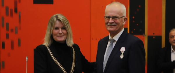 Byrådsmedlem Bjarne Kvist tildelt Ridderkorset
