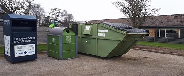Containere til genbrugspapir har holdt flyttedag