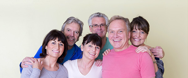 Group of seniors smiling at the camera