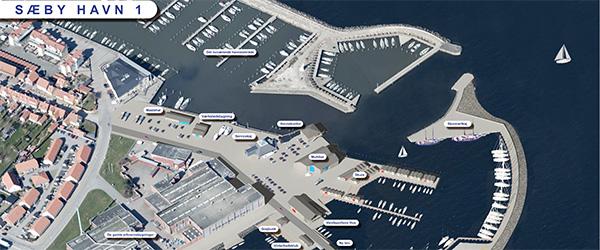 Live-sending af første spadestik på havneudvidelse i Sæby