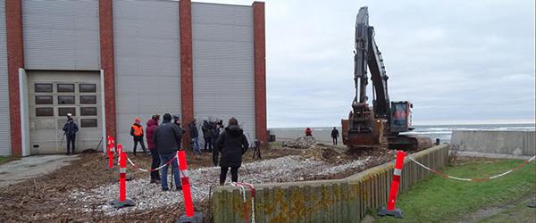 Første spadestik har sat udvidelsen af Sæby Havn i gang