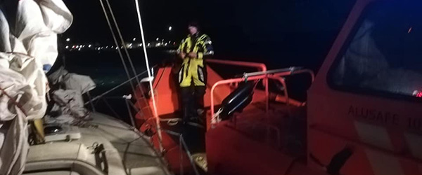 Sejlbåd måtte have assistance fra Sæby Redningsstation