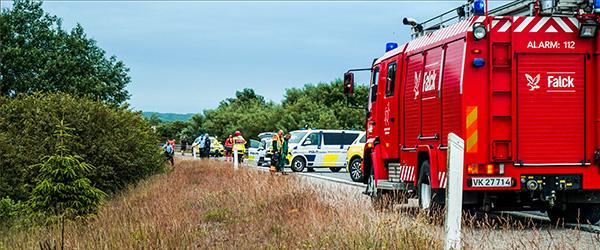Bilist flygtet fra solouheld på motorvej E45