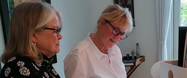 Hanne deltager i Poesidage med sine digte