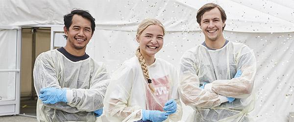 Kampagne skal lokke de unge til test-teltet sommeren over