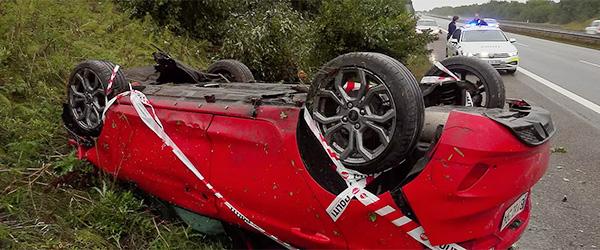 To uheld på Motorvej E45 ved Sæby